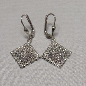 Jewelry - 14kt White Gold Diamond Cut Drop Earrings